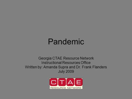Pandemic Georgia CTAE Resource Network Instructional Resources Office
