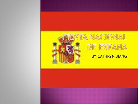 BY CATHRYN JIANG.  The date of the national day of Spain is October 12 th.
