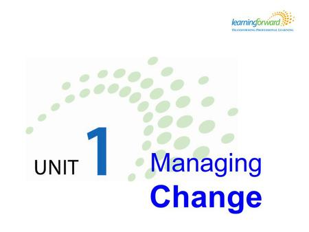 Managing Change. Learning objectives Learners will be able to … Explain how to apply six strategies for managing change within their schools or districts.