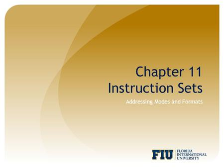 Addressing Modes and Formats Chapter 11 Instruction Sets.