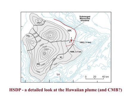 HSDP Drill Site HSDP - a detailed look at the Hawaiian plume (and CMB?)