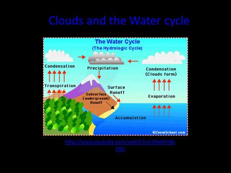 XXU Clouds and the Water cycle.