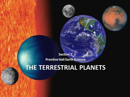 Earth Science 23.2 The Terrestrial Planets - ppt video ...