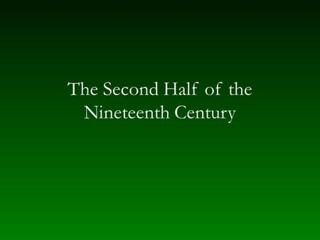 "The Second Half of the Nineteenth Century. The New German School Progressive ideas and styles after 1850 ""The music of the future"" — a teleological view."