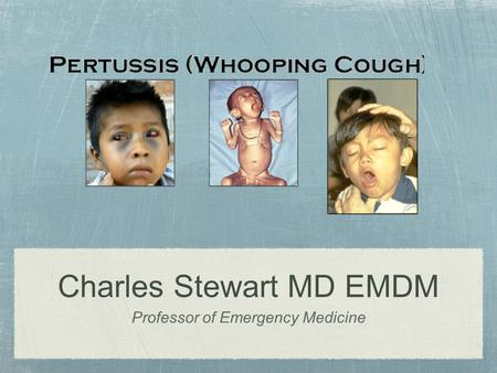 Charles Stewart MD EMDM Professor of Emergency Medicine.