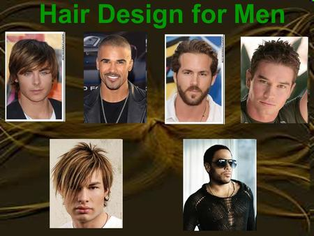 Hair Design for Men.
