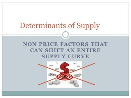 Non price determinants of supply examples