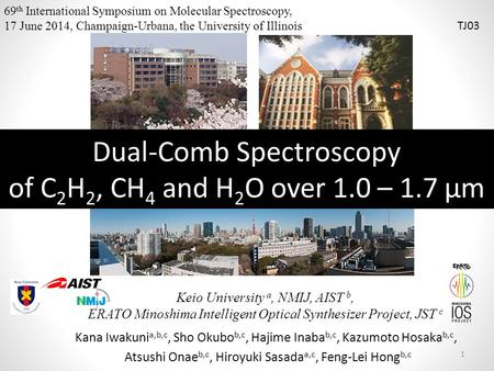 Dual-Comb Spectroscopy of C2H2, CH4 and H2O over 1.0 – 1.7 μm