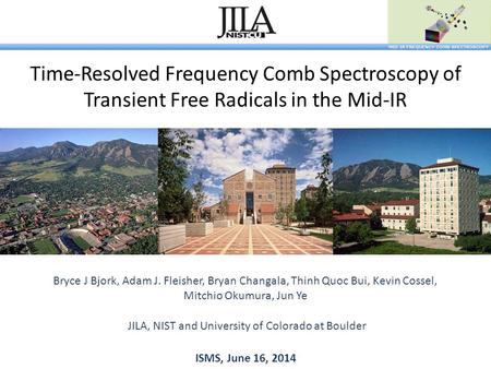 Time-Resolved Frequency Comb Spectroscopy of Transient Free Radicals in the Mid-IR Bryce J Bjork, Adam J. Fleisher, Bryan Changala, Thinh Quoc Bui, Kevin.