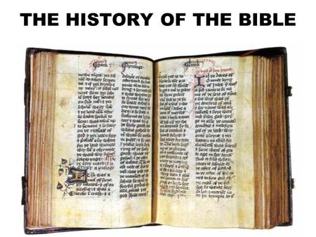 THE HISTORY OF THE BIBLE. A PAGE FROM THE GUTENBERG BIBLE (ca. 1455/1456)