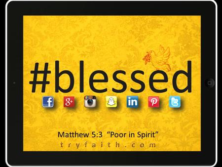 "Matthew 5:3 ""Poor in Spirit"". Christianity is the unreligion."