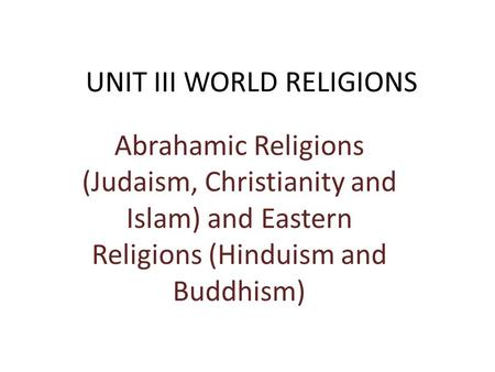 the rise of world religions judaism There are many different branches of judaism but the  most popular world religions retrieved from  .