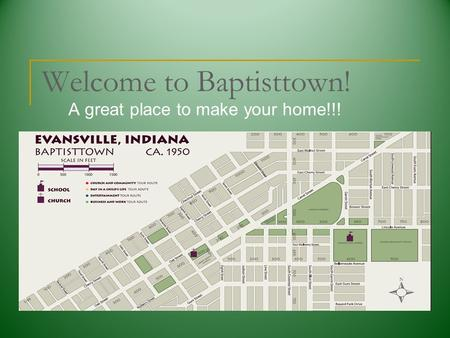 Welcome to Baptisttown! A great place to make your home!!!