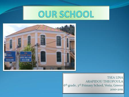 Our school is situated in Markou Mpotsari street, opposite the Court House and close to the Medrese Mosque and the Apostle Paul's Altar. It is about an.