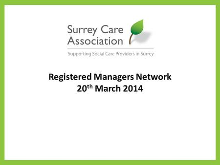 Registered Managers Network