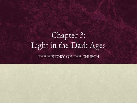 the light in the dark ages Title: prayers of the middle ages light from a thousand years author: various  editor: james manning potts release date: february 11, 2015 [ebook #48242].