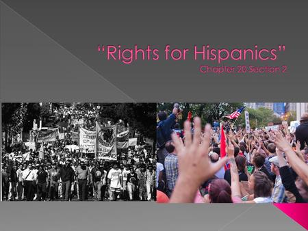 """Rights for Hispanics"" Chapter 20 Section 2"