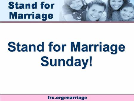 Stand for Marriage Sunday!. WEDDING OF THE CENTURY.
