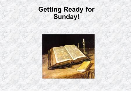 Getting Ready for Sunday!. Fifth Sunday in Ordinary Time Jesus preaches on the Sabbath! He also heals on the Sabbath! It was tradition, at that time,