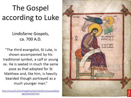 Luke. Title: 1. English – The Gospel According to Luke 2 ...