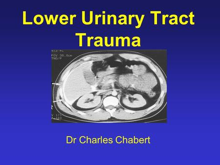 Lower Urinary Tract Trauma