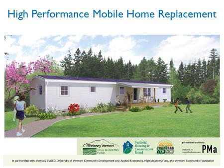 High Performance Mobile Home Replacement. Cost of Homes & Ability to Pay 3 *For homes on purchased land, assumes a 30-year fixed rate mortgage with.