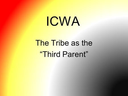 indian child welfare act of 1978 American indian families at it's core, icwa was passed to promote the best interests of american indian children and their families, and promote stability amongst american indian families per icwa, states are required by law to seek american indian placements for an american indian child before looking elsewhere the state must.