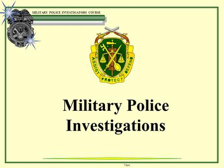 Military Police Investigations