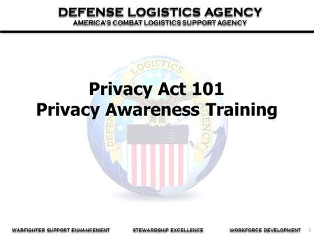 Privacy Act 101 Privacy Awareness Training