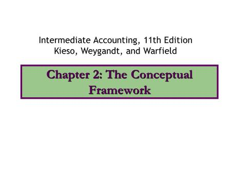 Chapter 2: The Conceptual Framework