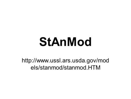 StAnMod  els/stanmod/stanmod.HTM.
