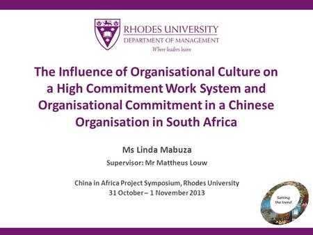 organizational culture in china Cross-cultural communication within american and chinese colleagues in multinational organizations yue li in contrast, in chinese organizational culture.