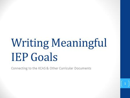 Writing iep goals for behavior
