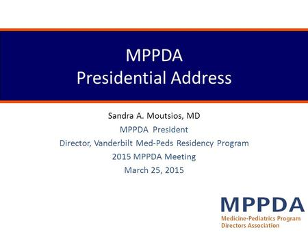 MPPDA Presidential Address