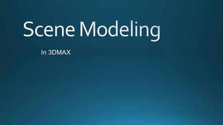 In 3DMAX. Autodesk 3ds Max, formerly 3D Studio Max, is 3D computer graphics software for making 3D animations, models, and images. It was developed and.