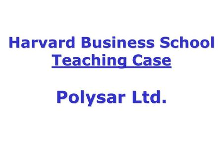 polysar limited case