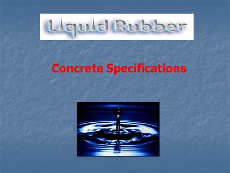 Concrete Specifications