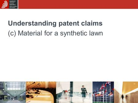 Understanding patent claims (c) Material for a synthetic lawn.