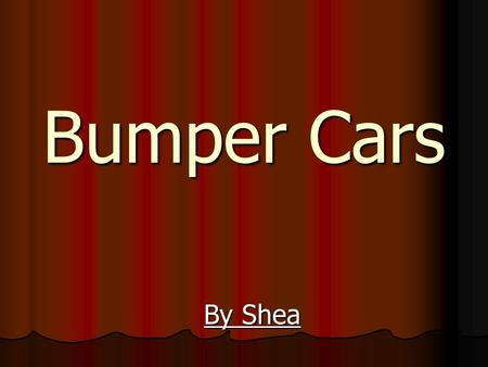 "Bumper Cars By Shea Question How do different kinds of bumper materials affect how much energy is transferred to the ""passenger"" in a car collision?"