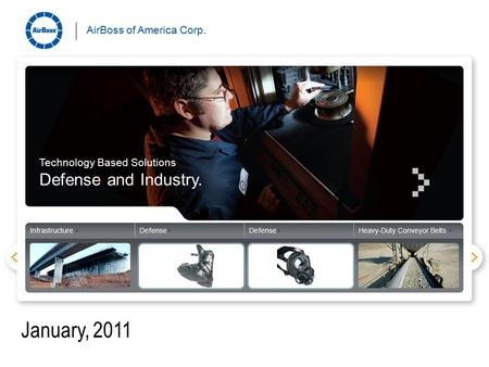 AirBoss of America Corp. Infrastructure +Defense+ Heavy-Duty Conveyor Belts + Technology Based Solutions Defense and Industry. AirBoss of America Corp.