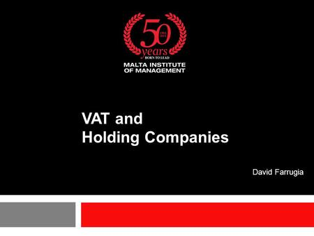 VAT and Holding Companies