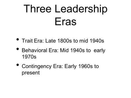 leaders are made not born behavioral theories on leadership Leaders aren't born, they are made leadership is not something you're born with, it's not inherited, and it's not the result of your dna.