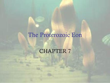 The Proterozoic Eon CHAPTER 7.