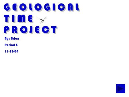 GEOLOGICAL TIME PROJECT