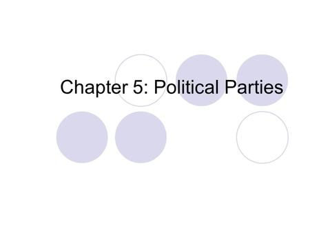 Chapter 5: Political Parties. Typical Republican Fewer government programs = less government spending= smaller influence of government.