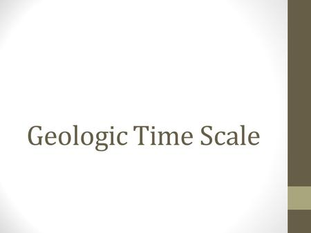 Geologic Time Scale. Uniformitarianism Earth is an always changing place. Plate tectonics, weathering, erosion etc. The same forces of change that are.