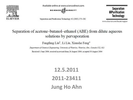 12.5.2011 2011-23411 Jung Ho Ahn. Contents Introduction Objective Experimental procedure Result Conclusion.