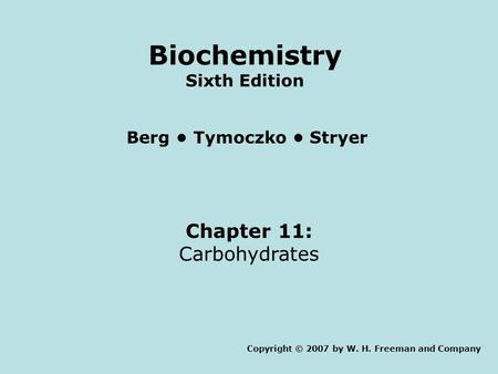 Biochemistry Sixth Edition