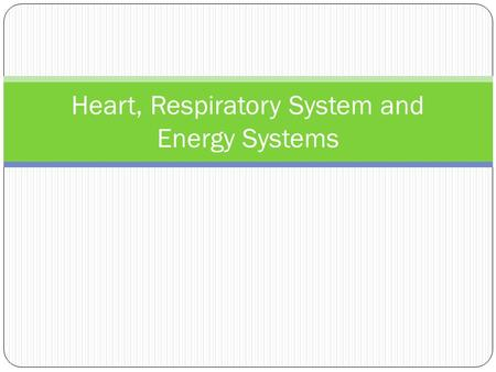 Heart, Respiratory System and Energy Systems. Gross Anatomy of Heart Figure 18.4e.