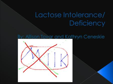 The inability to digest and absorb lactose (the sugar in milk) that results in gastrointestinal symptoms when milk or food products containing milk are.